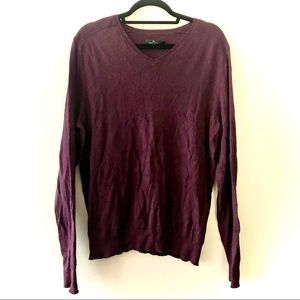 Marc Anthony Burgundy V-Neck Mens Pullover Sweater